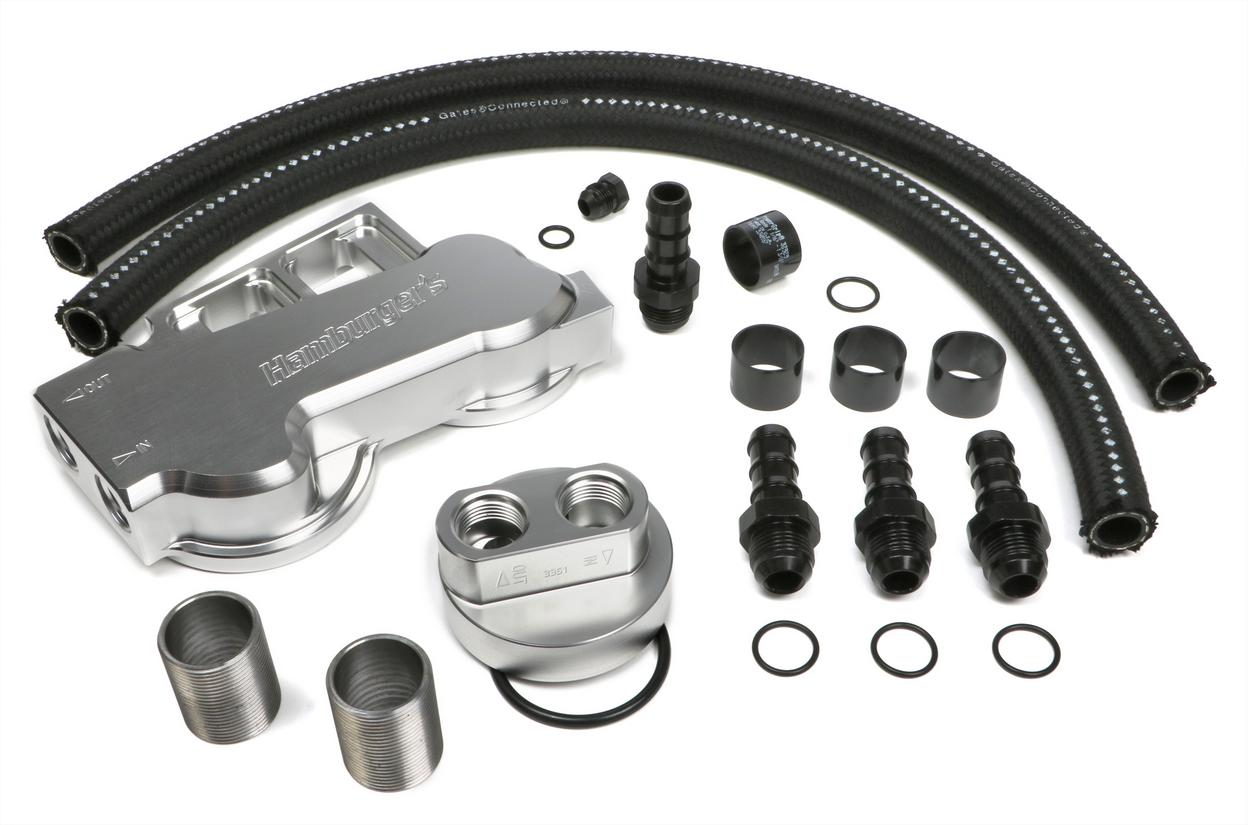 BILLET TRUE-DUAL DOUBLE OIL FILTER RELOCATION KIT-DODGE CUMMINS DIESEL