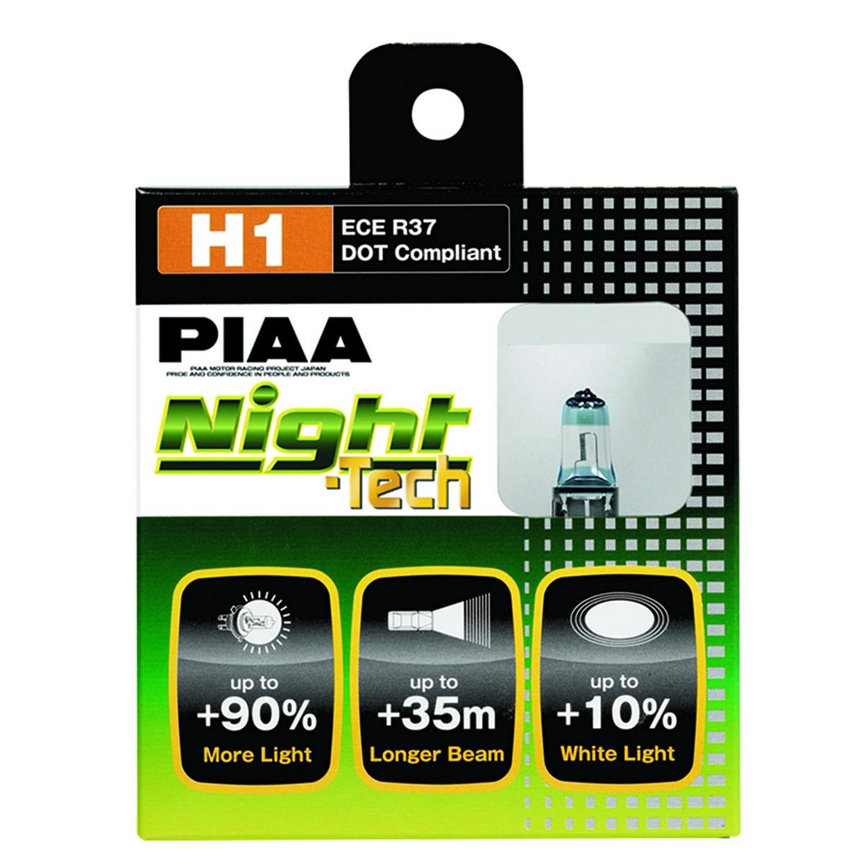 H1 NIGHT TECH TWIN PACK HALOGEN BULBS