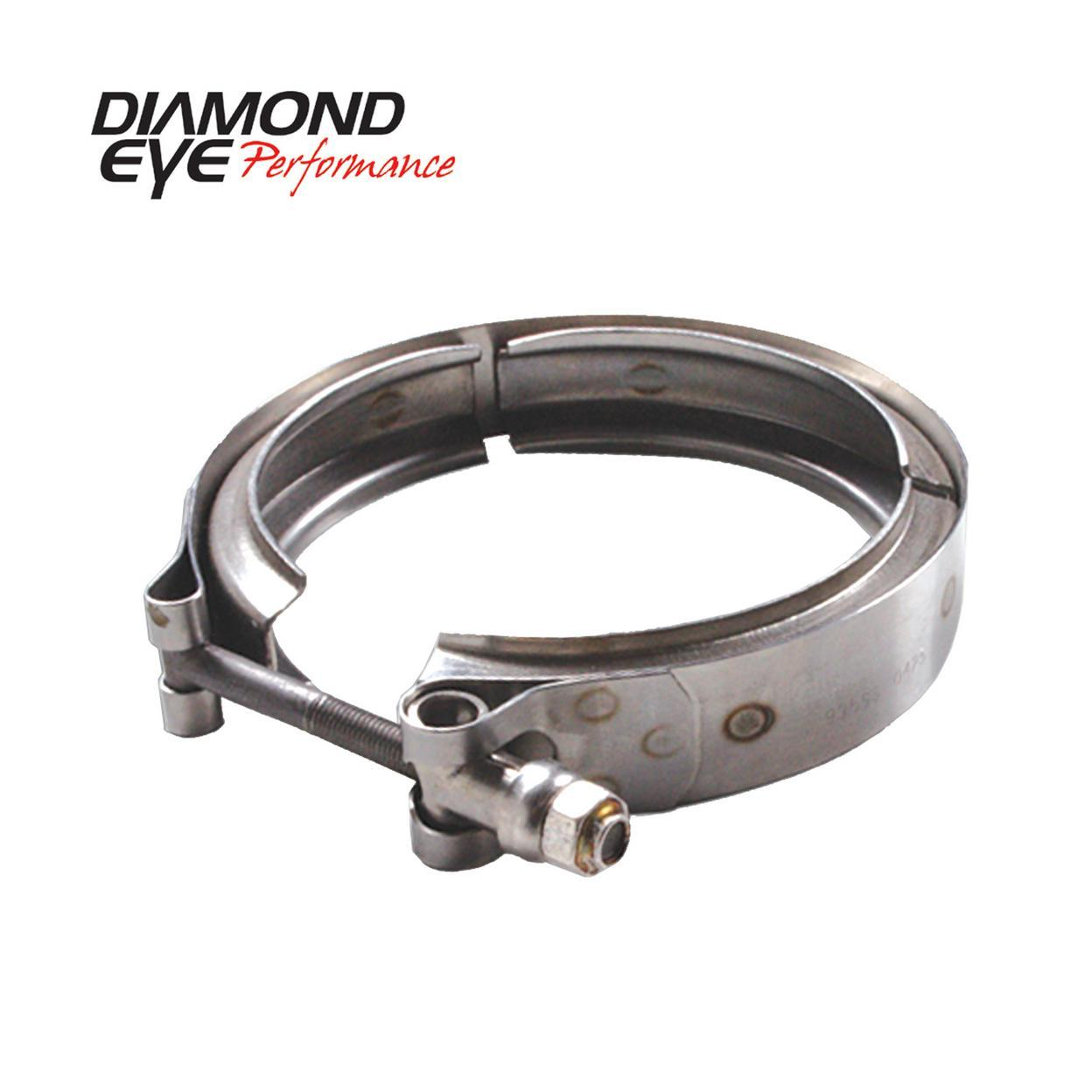 Diamond Eye Performance VC400HX40 PERFORMANCE DIESEL EXHAUST PART-V-BAND CLAMP FOR HX40 STYLE TURBO