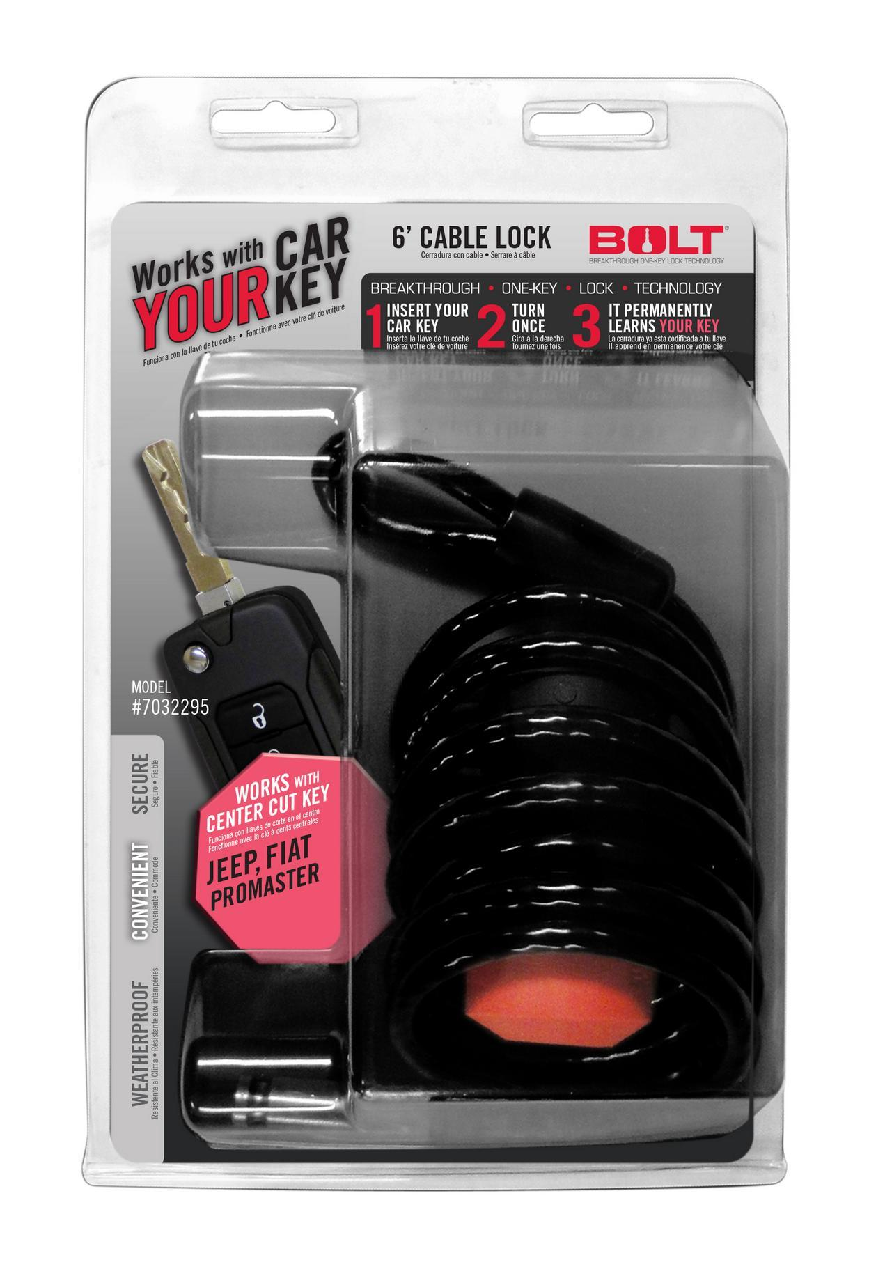 BOLT 7032295 6FT. CABLE LOCK JEEP CENTER CUT