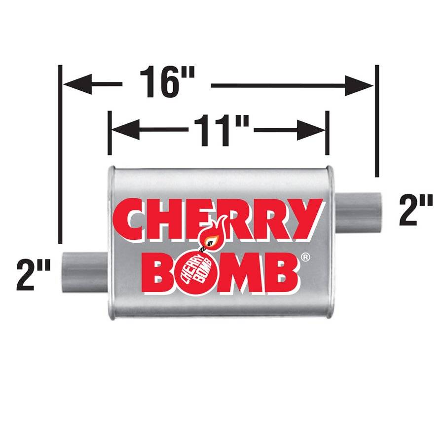 Muffler - Cherry Bomb Turbo