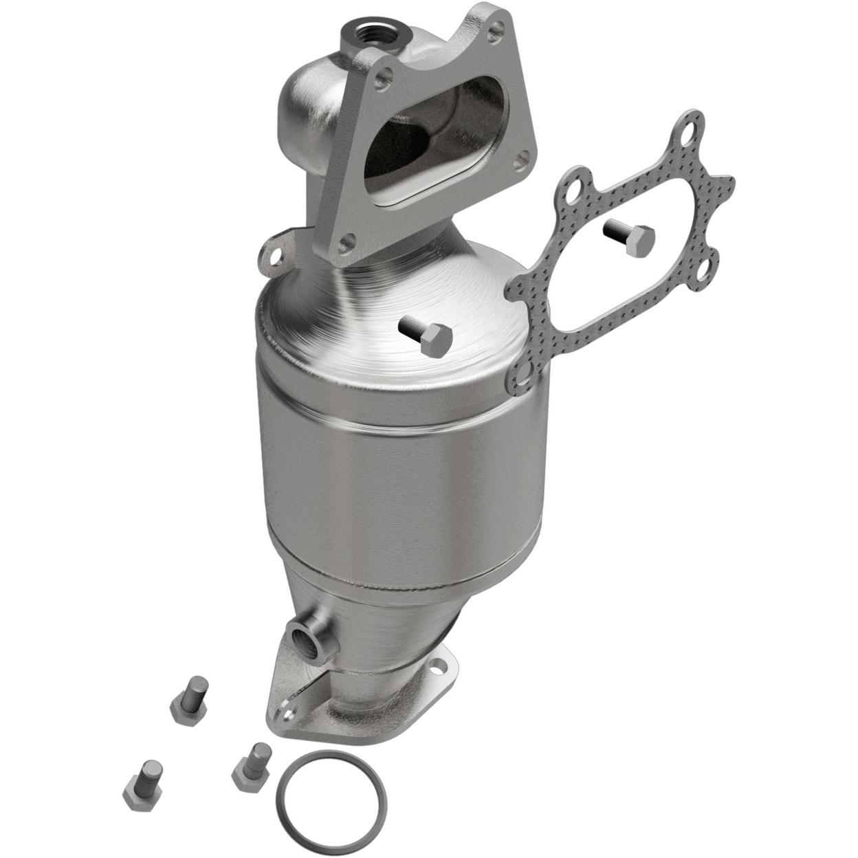 Exhaust Manifold With Integrated Catalytic Converter For