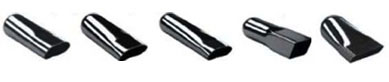 Jones - Chrome and Powder Coated Exhaust Tips JWT212 Chrome Tip