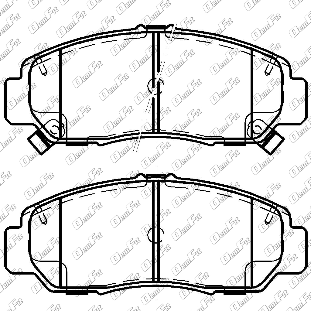 candid auto parts 2008 Chrysler Sebring Repair Manual oem fit d1608 oem fit brake pads front