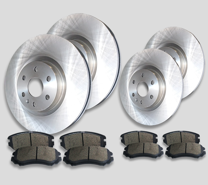EdgeONE FR2000436 [FRONT + REAR] EdgeOne Brake Rotors and Pads