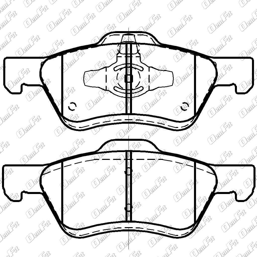 candid auto parts Sebring 2008 Body Parts oem fit d1047 oem fit brake pads front