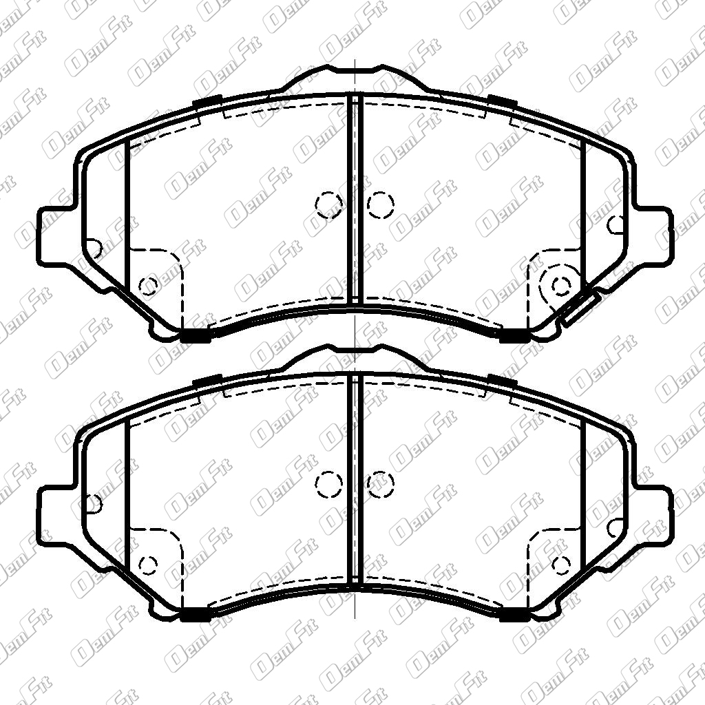 candid auto parts 2003 Lincoln Navigator oem fit d1273 oem fit brake pads front