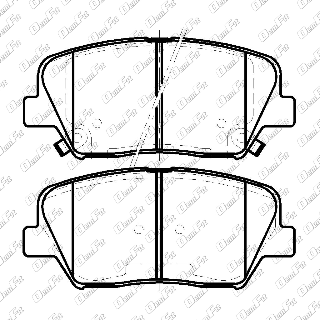 candid auto parts 2000 Chrysler Sebring Parts Diagram oem fit d1432 oem fit brake pads front