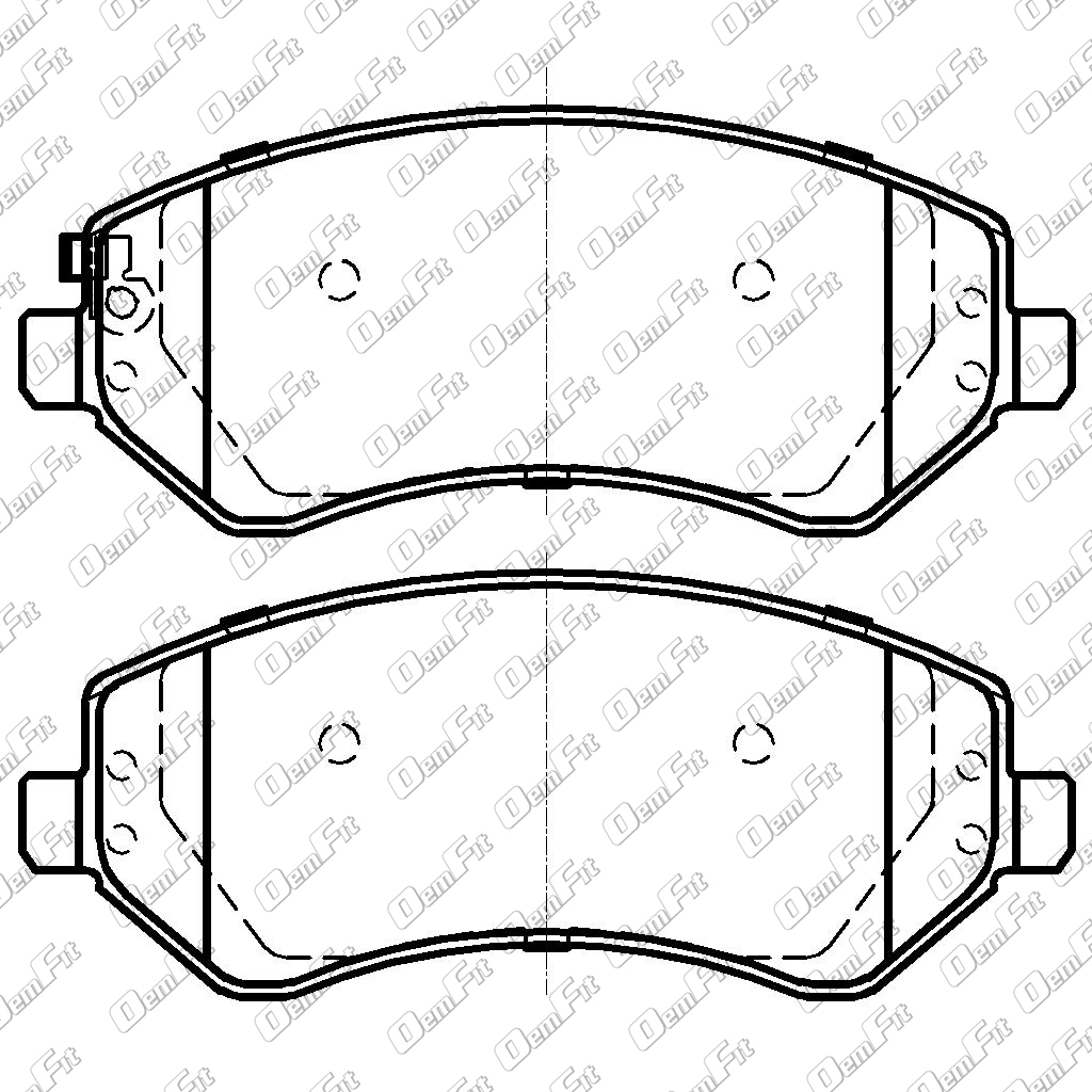 candid auto parts 2008 Chrysler Sebring Convertible Manual oem fit d856 oem fit brake pads front