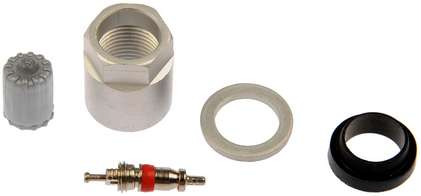 TPMS Service Kit - Replacement Grommet, Washer, Valve Core, and Cap