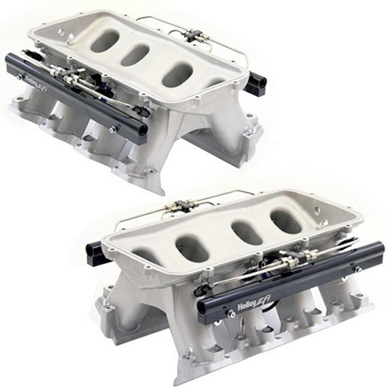 Snow Performance SNO-INTAKE004 HOLLEY HI-RAM MANIFOLD FOR CATHEDRAL PORT HEADS W/ Snow DIRECT PORT