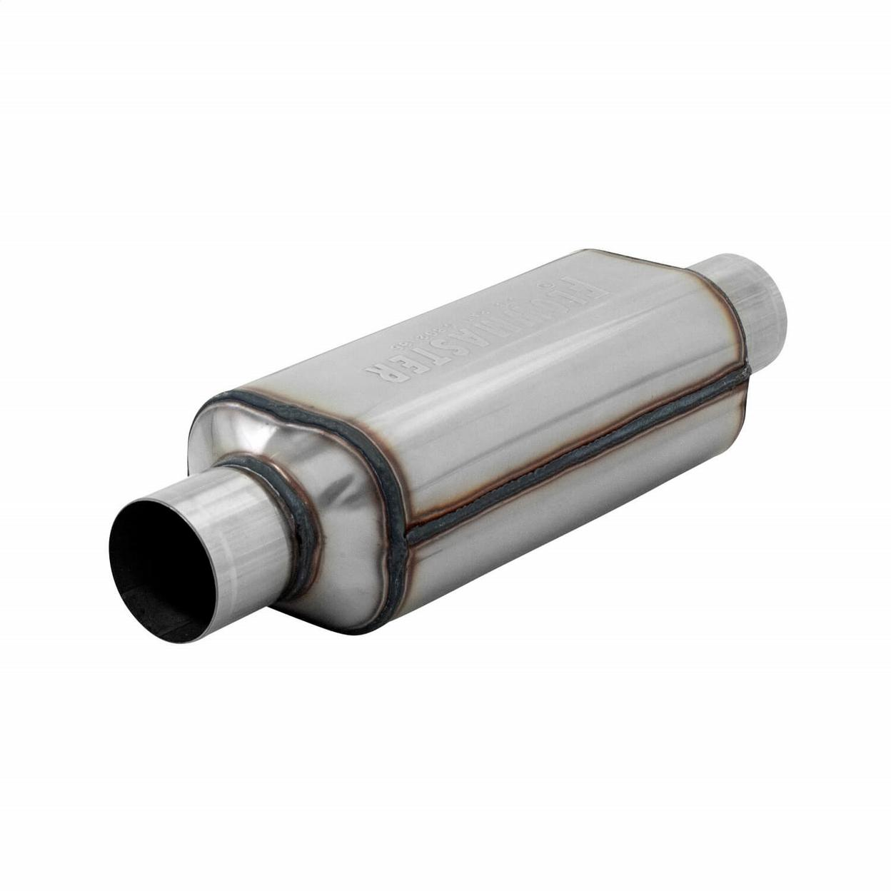 Super HP-2 Muffler 304S - 2.50 Center In. 2.50 Center Out - Aggressive Sound
