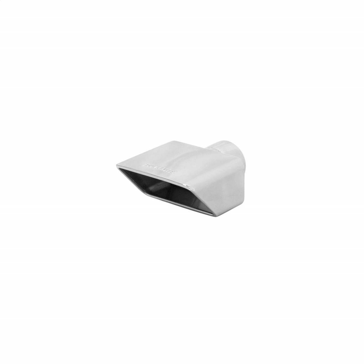 Exhaust Tip - 3.0 x 5.5 Polished Angle Rolled Edge Fits 2.5 in. Tubing