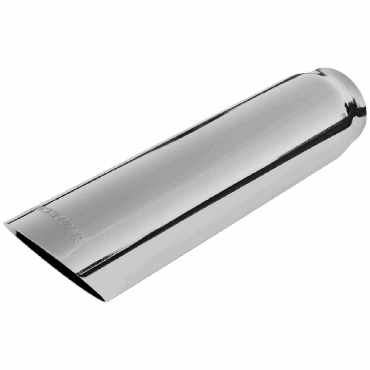 Exhaust Tip - 3.00 in. Cut Angle Polished SS Fits 2.50 in. Tubing - weld on