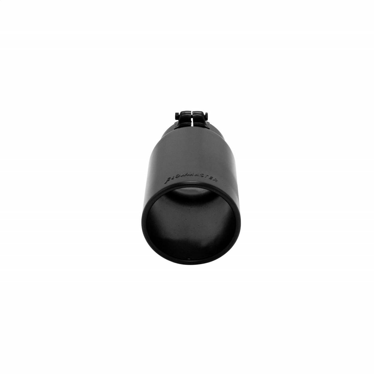 Exhaust Tip - 5 in. Rolled Angle Edge Black Ceramic Coating Fits 4 in. Tubing