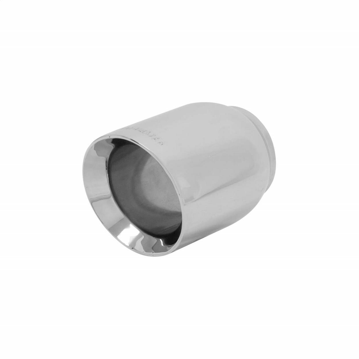 Exhaust Tip - 4.00 in. Round Polished SS - Fits 3.00 in. Tailpipe - Weld on