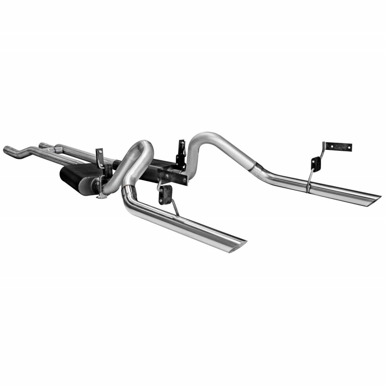 flowmaster exhaust system kit fits  1965 1966 ford mustang