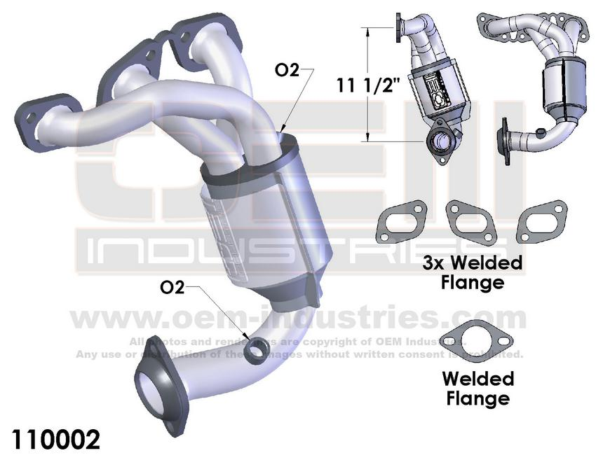EXHAUST MANIFOLD WITH INTEGRATED CATALYTIC CONVERTER