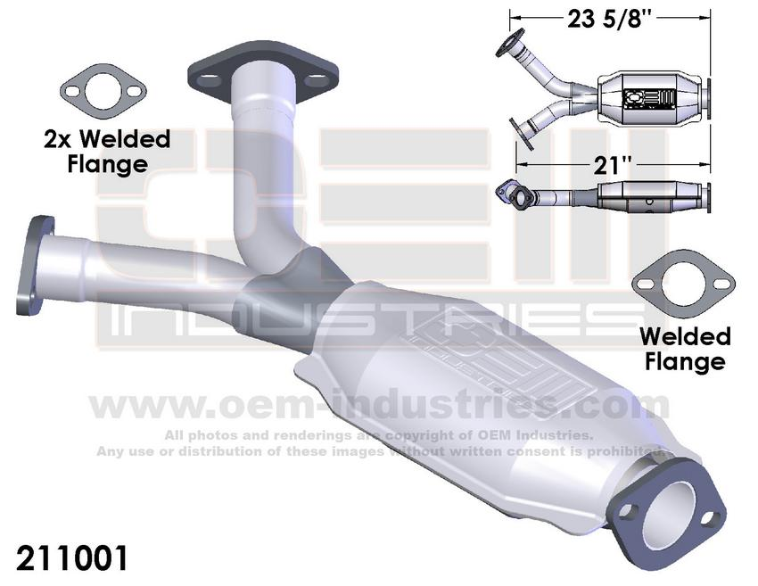 211001 CATALYTIC CONVERTER AND PIPE ASSEMBLY