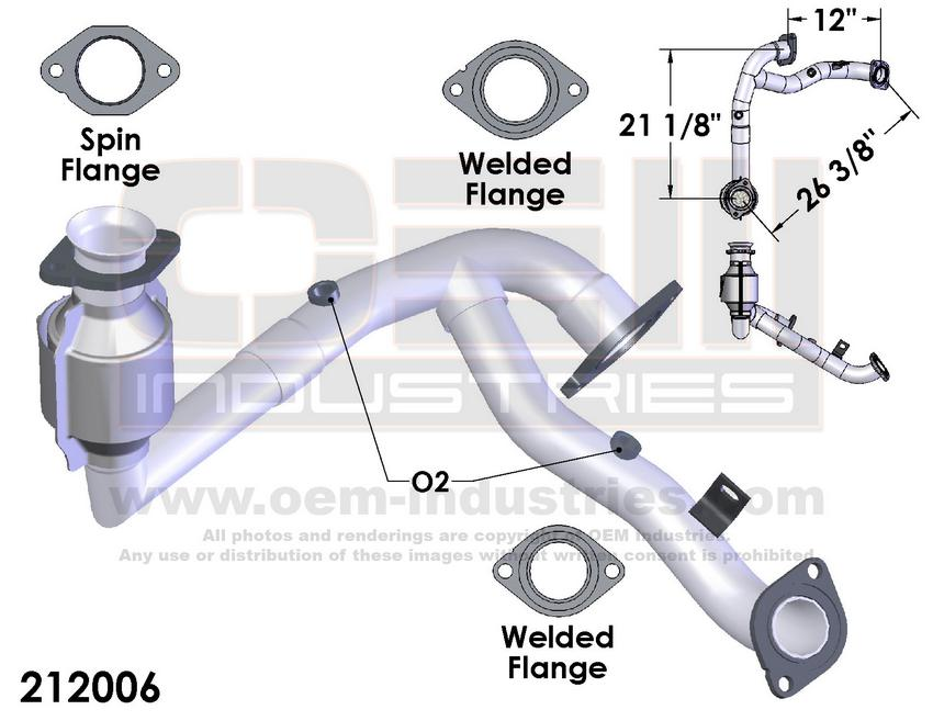 CATALYTIC CONVERTER AND PIPE ASSEMBLY