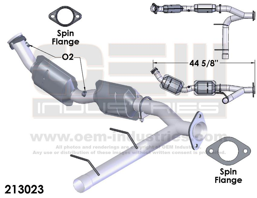 R103 ECSE1012TA Catalytic Converter FRONT PIPE /& CAT