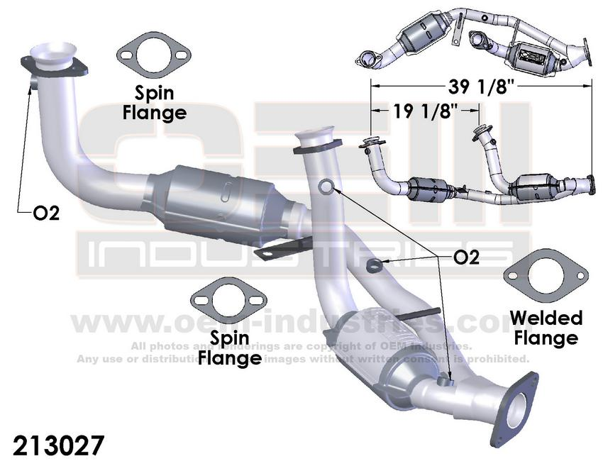 213027 CATALYTIC CONVERTER AND PIPE ASSEMBLY