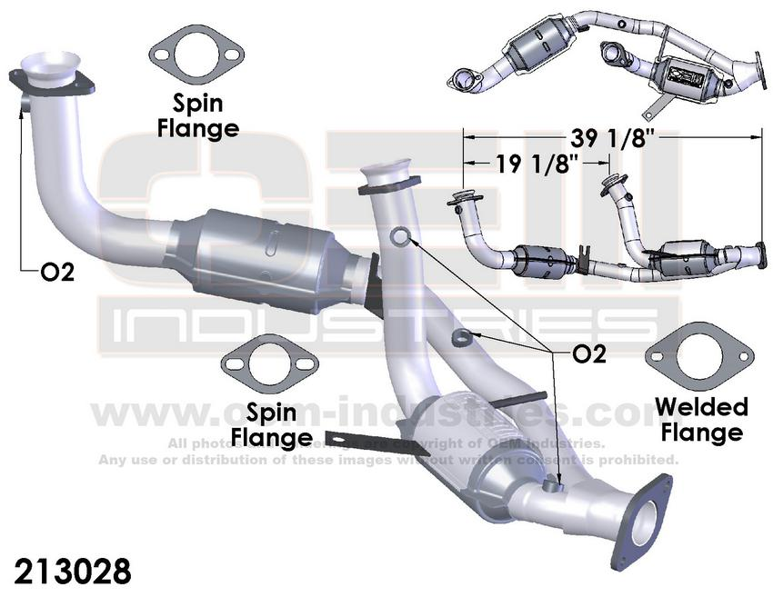 213028 CATALYTIC CONVERTER AND PIPE ASSEMBLY