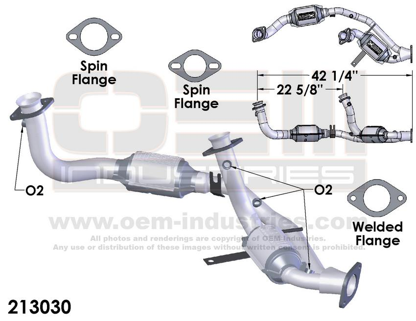 213030 CATALYTIC CONVERTER AND PIPE ASSEMBLY