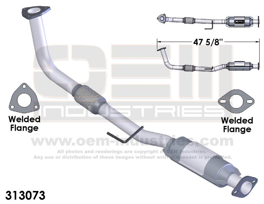 313073 CATALYTIC CONVERTER AND PIPE ASSEMBLY