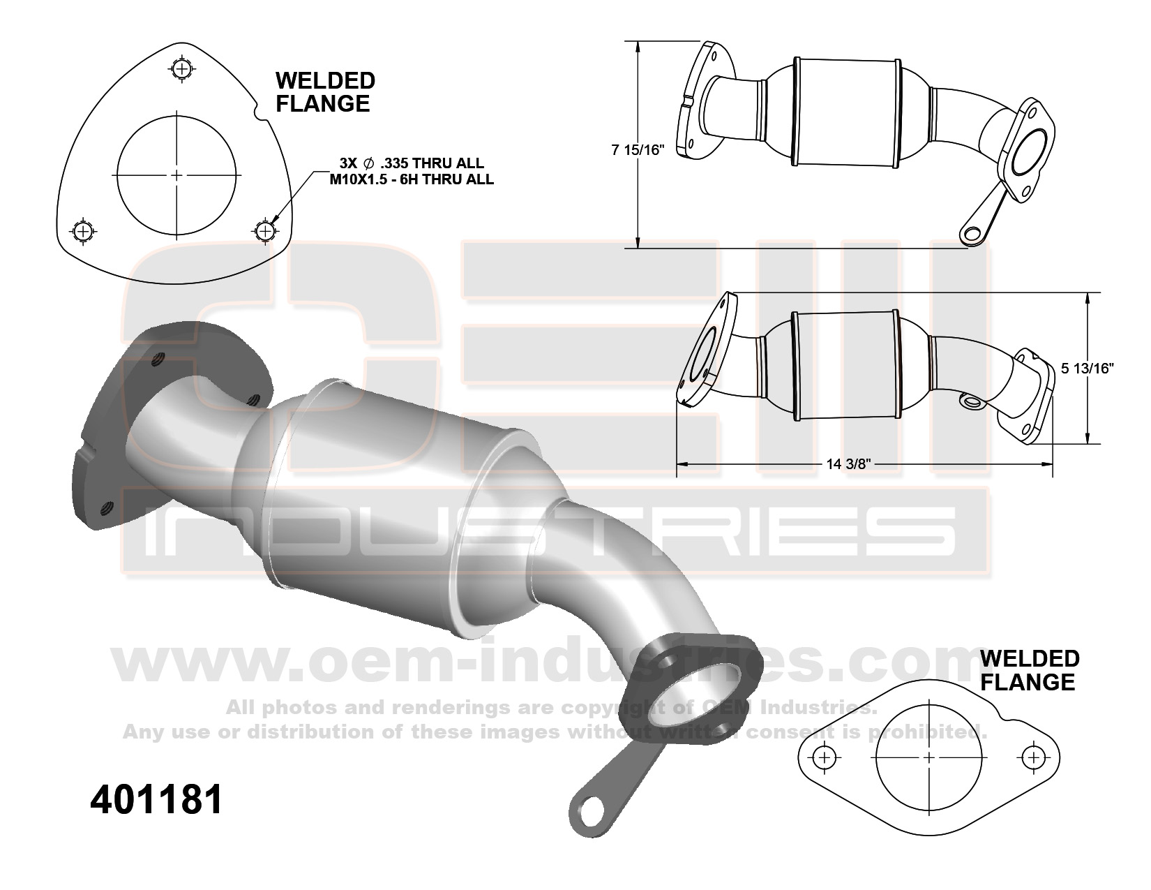 OEM Industries 401181 Catalytic Converter