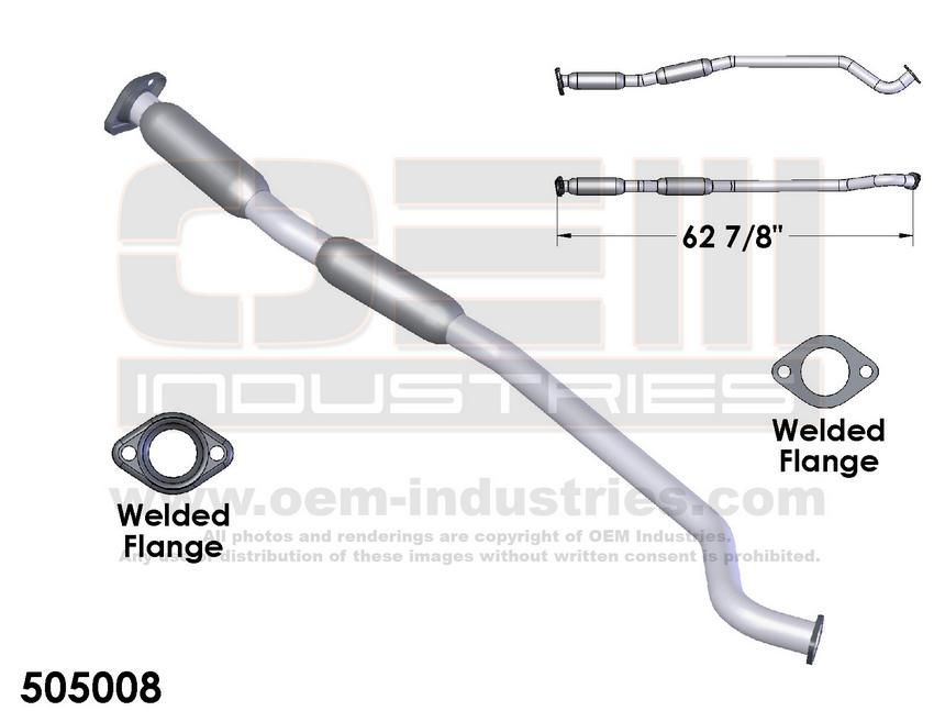2003 Baja 2000-04 Legacy Outback Stainless Steel Exhaust Resonator Pipe fits