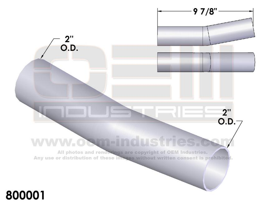 800001 EXHAUST TAIL PIPE