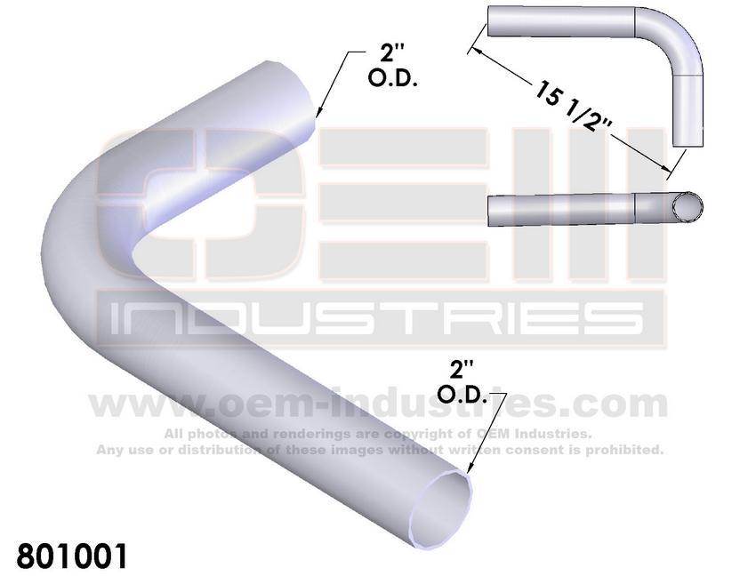 801001 EXHAUST TAIL PIPE