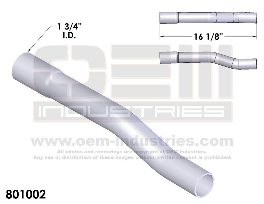 801002 EXHAUST TAIL PIPE