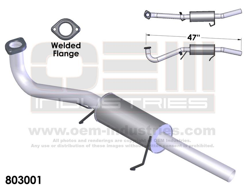 803001 EXHAUST TAIL PIPE