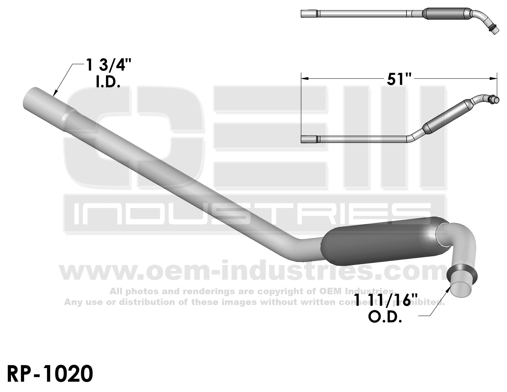 RP1020 Exhaust Pipe
