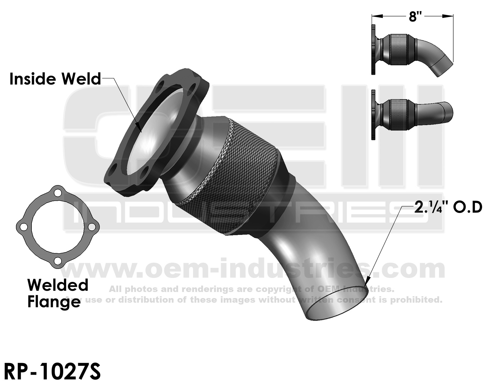 RP1027S Exhaust Pipe