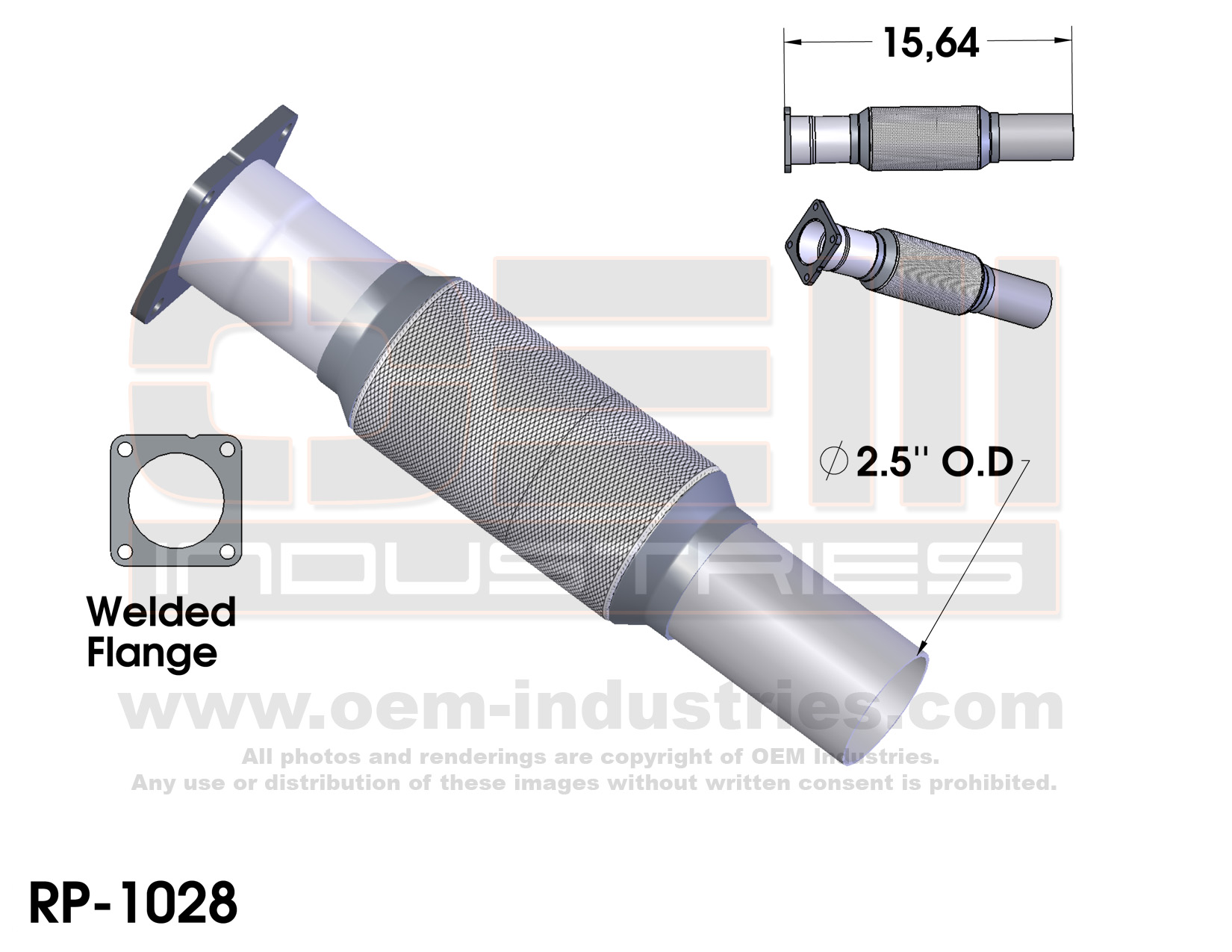 RP1028 Exhaust Pipe