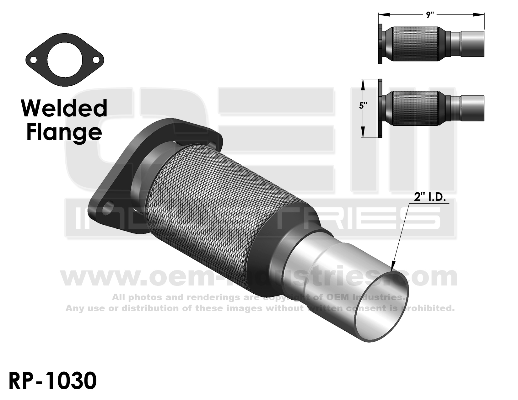 RP1030 Exhaust Pipe