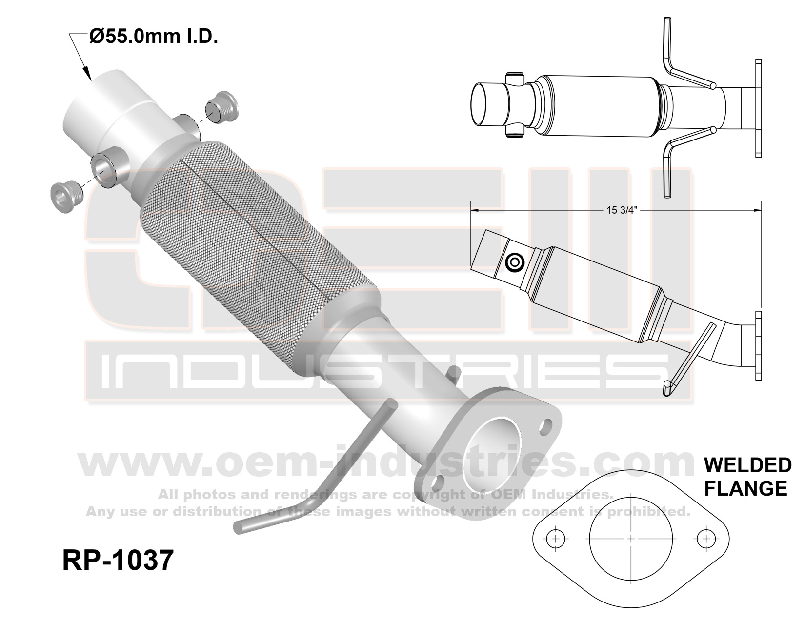 RP1037 Exhaust Pipe