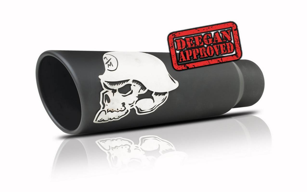 Gibson Performance Exhaust 61-1048 Metal Mulisha Rolled Edge Angle Exhaust Tip, Black Ceramic