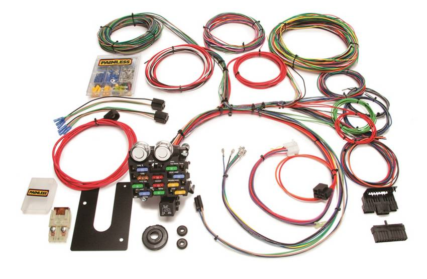 Classic Customizable Pickup Chassis Harness-GM Keyed Column-21 Circuits