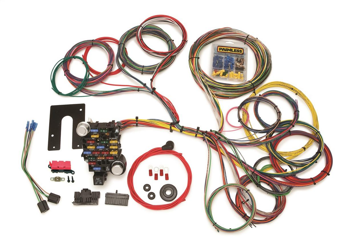 Classic-Plus Customizable Pickup Chassis Harness-Non GM Keyed Column-28 Circuits