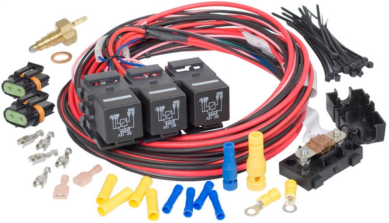 GEN III; IV Truck Dual Activation/Dual Fan Relay Kit (on 205; off 190)